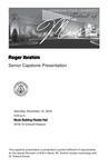 Senior Capstone Presentation: Roger Ibrahim