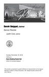 Senior Recital: Sarah Seippel, clarinet