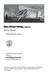 Senior Recital: Mary Allison Hamby, soprano by Mary Allison Hamby and Erika Tazawa