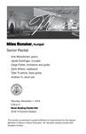 Senior Recital: Miles Bonaker, trumpet