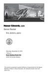 Senior Recital: Nassar Edwards, violin by Nassar Edwards and Eric Jenkins