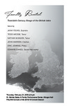 Faculty Recital: Twentieth-Century Songs of the British Isles