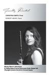 Faculty Recital: Christina Smith, flute and Robert Henry, piano by Christina Smith and Robert Henry