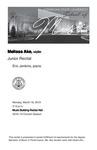 Junior Recital: Melissa Ake, violin by Melissa Ake