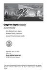 Junior Recital: Grayson Saylor, bassoon by Grayson Saylor, Arie Motschman, Andrew Brady, and Joseph Grunkemeyer