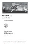 Junior Recital: Lacee Link, cello by Lacee Link and Eric Jenkins