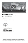 Non-degree Recital: Teresa Sheppard, harp by Teresa Sheppard and Eric Jenkins