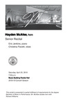 Senior Recital: Hayden McAfee, horn by Hayden McAfee, Eric Jenkins, and Christina Pacetti