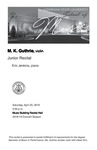 Junior Recital: M. K. Guthrie, violin by M. K. Guthrie and Eric Jenkins