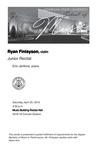Junior Recital: Ryan Finlayson, violin by Ryan Finlayson and Eric Jenkins