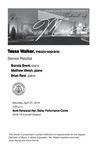 Senior Recital: Tessa Walker, mezzo-soprano