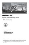 Senior Capstone Lecture Recital: Caleb Stack, tenor by Caleb Stack and Erika Tazawa