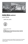 Junior Recital: Andrew Berry, euphonium by Andrew Berry and Judith Cole