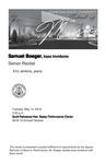 Senior Recital: Samuel Boeger, bass trombone