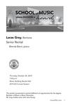 Senior Recital: Lucas Gray, Baritone