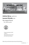 Non-degree Recital: Andrew Berry, euphonium and Laurenz Oriondo, tuba