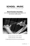 Mixed Chamber Ensembles by Julie Coucheron, Charae Krueger, Kenn Wagner, and John Warren