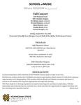 Fall Concert: KSU Women's Choir and Chamber Singers