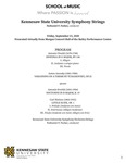 Kennesaw State University Symphony Strings by Nathaniel F. Parker