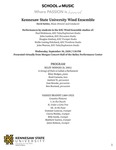Kennesaw State University Wind Ensemble by David Kehler, Paul Dickinson, John Lawless, Douglas Lindsey, Hollie Lawing Pritchard, and John Warren
