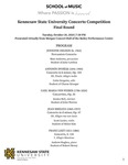 2020-2021 KSU Concerto Competition Finals by Matt Andrews, Colin Gregoire, Jessica Bell, Scott Lozier, Andrew Hughes, Melody Bearden, Elijah Reeves, Esther Kim, Laurenz Oriondo, Judith Cole, and Eric Jenkins