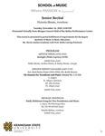 Senior Recital: Victoria Shrote, trombone by Victoria Shrote, Eddie Shrote, Andrea Shrote, Darby Shrote, Judith Cole, Natalie Hylton, Emily Gunby, and Emily Atkeison