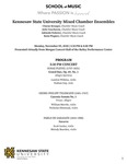 Kennesaw State University Mixed Chamber Ensembles by Charae Krueger, Julie Coucheron, Adelaide Federici, and Kenn Wagner