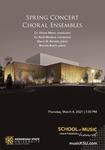 Spring Concert Choral Ensembles by Alison Mann, Reid Masters, Sherri N. Barrett, and Brenda Brent