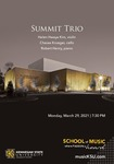 Summit Trio Recital by Helen Hwaya Kim, Charae Krueger, and Robert Henry