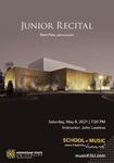 Junior Recital: Matt Pate by Matt Pate