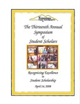 2008 - The Thirteenth Annual Symposium of Student Scholars