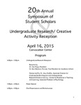 2015 - The Twentieth Annual Symposium of Student Scholars